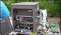 installation chauffe piscine au gaz naturel plomberie